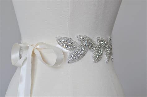 10 beautiful bridal sashes belts to make your dress