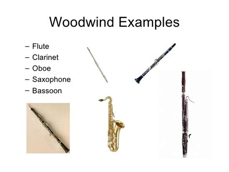 wind section instruments instruments of the orchestra