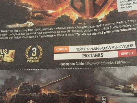World Of Tanks Giveaways - eu sea wot bonus code giveaway cause i never get na ones for existing