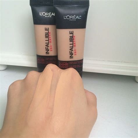 L Oreal Infallible Foundation Indonesia l oreal infallible pro matte foundation left is 103