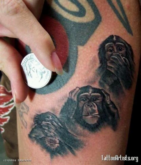 3 wise monkeys tattoo designs 25 best see no evil images on see no evil