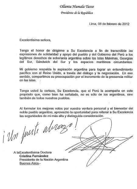 Página/12 :: El país :: Respaldo por carta desde Perú