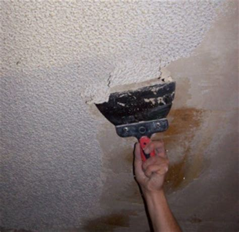 How To Remove Texture From Ceiling by Removing A Popcorn Ceiling Thriftyfun