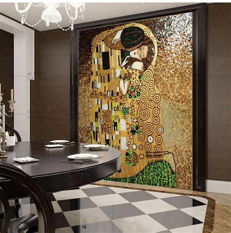 Huge Wall Murals aliexpress com buy the kiss of gustav klimt hand made