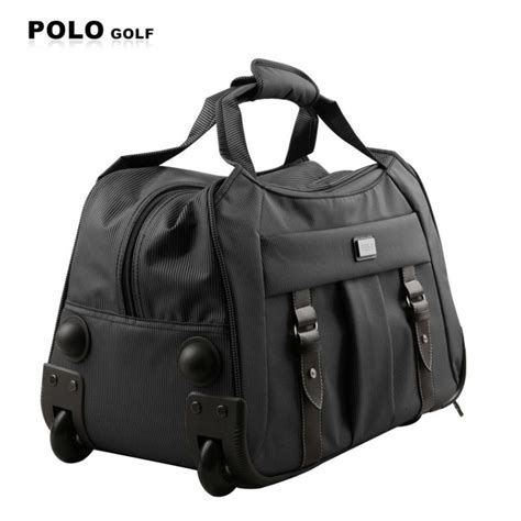 Bags Import polo brand trolley clothing travel duffle rolling wheel trolley bag import pu