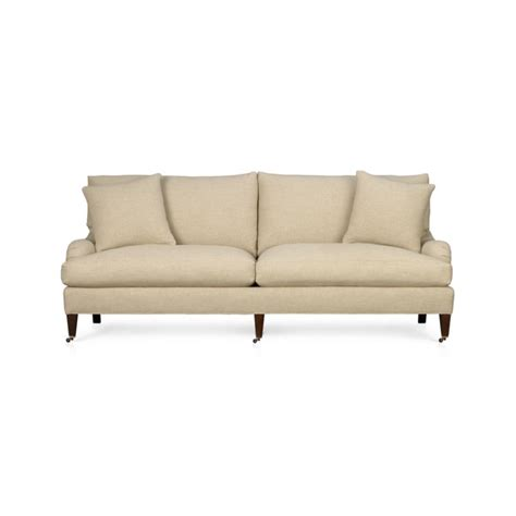 essex sofa with casters crate and barrel