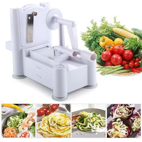 tri blade spiral vegetable and fruit slicer 3 in 1