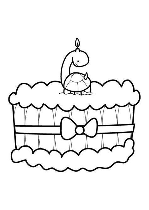 ausmalbild kuchen ausmalbild geburtstag kuchen zum sechsten geburtstag
