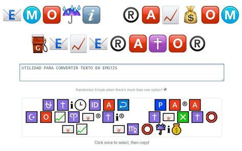 es una curiosa aplicacion que transforma cualquier texto en una emoji ransom generator utilidad web para convertir textos