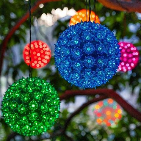 outdoor light spheres bright colors outdoor and led on