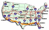 us map with interstate 10 cross country en la interestatal 10 tiaong