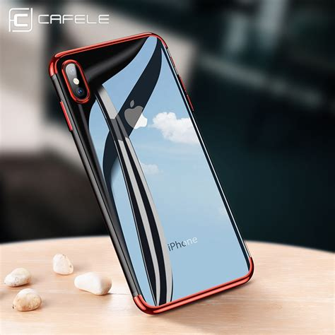 iphone 10 max cafele soft tpu for iphone x xr xs max cases ultra thin transparent plating shining