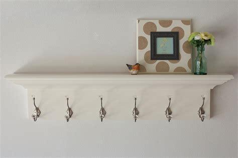 White Wall Coat Rack by Wood Wall Shelves Floating Coat Rack White In