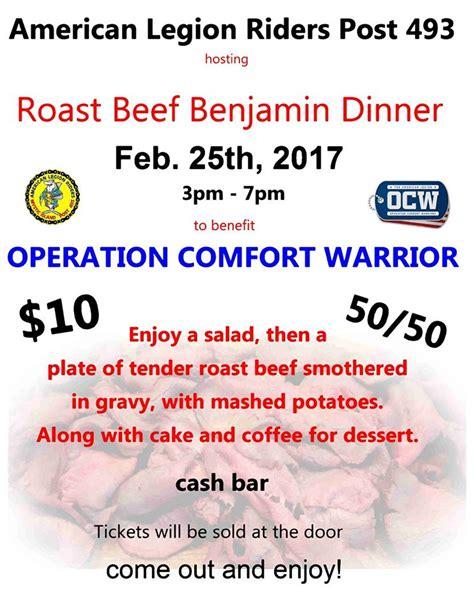 Operation Comfort Roast Beef Dinner Operation Comfort Warrior Amer