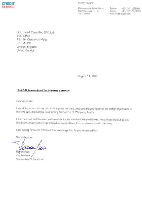 credit suisse cover letter gsl of companies