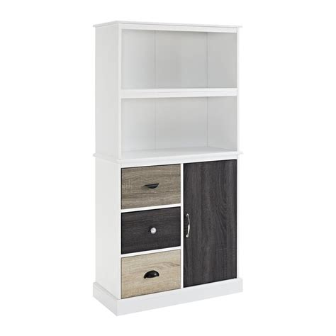 Shop Ameriwood Home Mercer White 4 Shelf Bookcase At Lowes Com White 4 Shelf Bookcase
