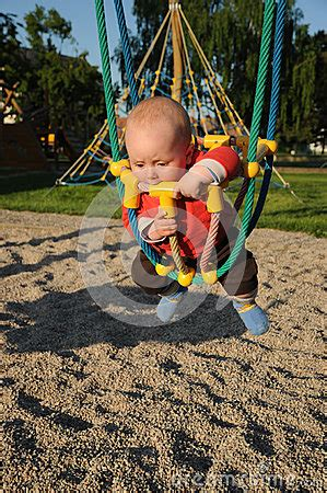 baby rope swing little baby in rope swing royalty free stock photos