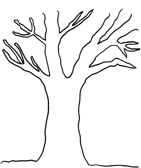 coloring pages online without printing printable picture of a tree without leaves free coloring