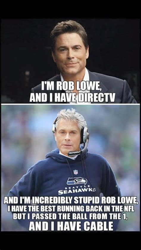 Direct Tv Meme - pete carroll rob lowe seahawks direct tv meme sports