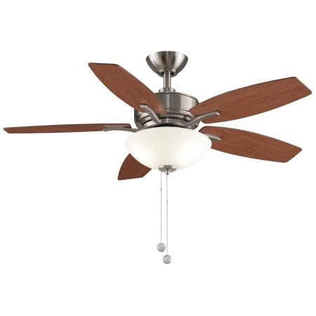 alexa compatible ceiling fan fanimation fp6245bn brushed nickel aire deluxe 44 quot 5 blade