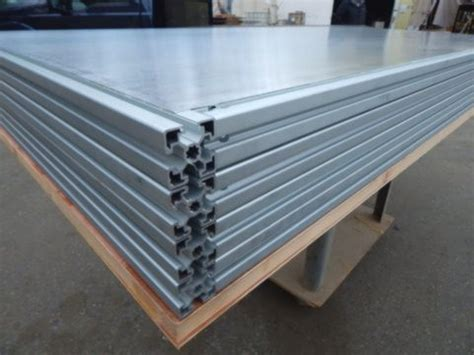 aluminum non warping patented honeycomb panels and door