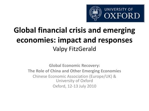 Global Financial Crisis Essay Topics by Ppt Global Financial Crisis And Emerging Economies Impact And Responses Valpy Fitzgerald