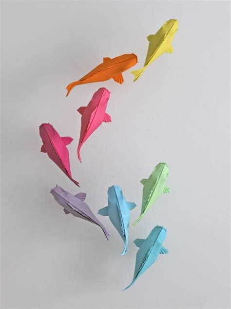 pastel colored koi by mabona origami random