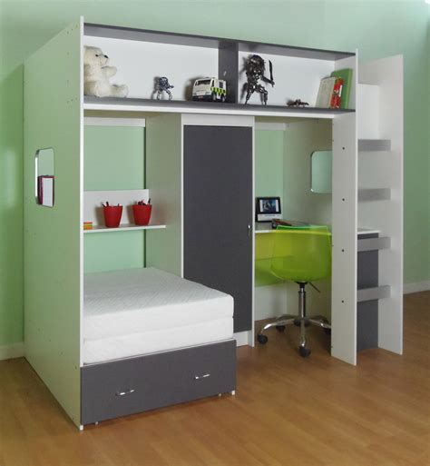 Wooden High Sleeper With Futon by Wooden High Sleeper Bed With Desk And Futon