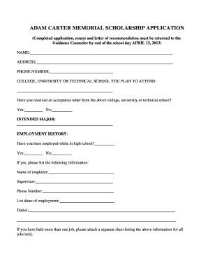 Memorial Acceptance Letter Acceptance Letter Sle Forms And Templates Fillable