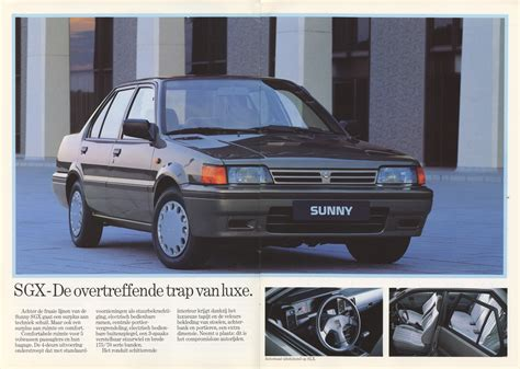 nissan sunny 1990 modified nissan sunny n13 b12 dutch brochure from 1990 banpei net