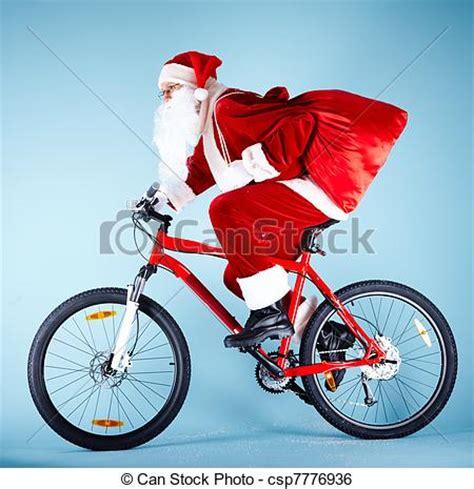 imagenes de santa claus en bicicleta stock de imagenes de bicicleta santa foto de santa