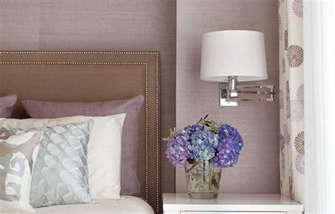 blair harris interior design bedrooms mauve grasscloth