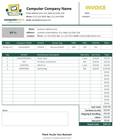 service invoice template pdf and sample documents generic receipt