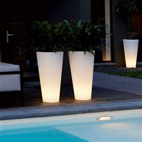 fioriere illuminate outdoor led plant pot light power lights co ltd