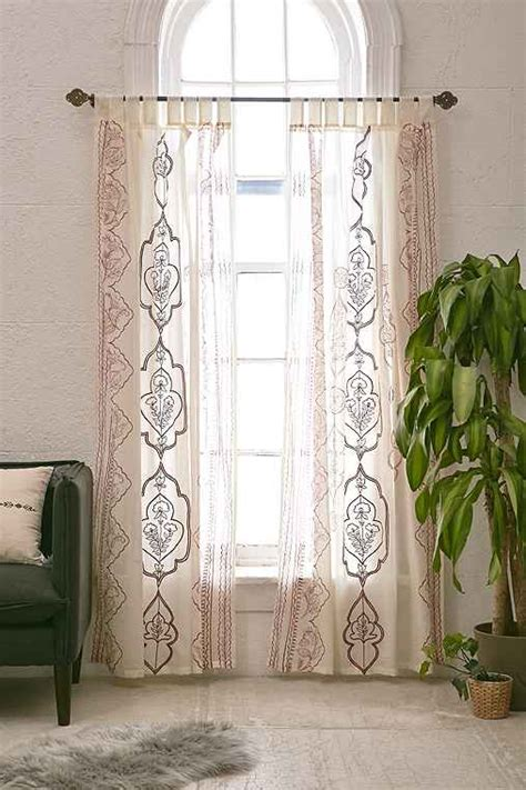 curtains urban outfitters plum bow jazmin embroidered curtain urban outfitters