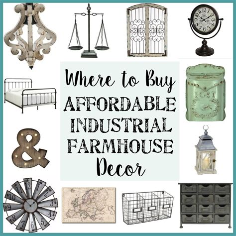 Where To Buy Home Decor | where to buy affordable industrial farmhouse decor bless