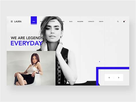 fashion shop template fashion store website template freebie