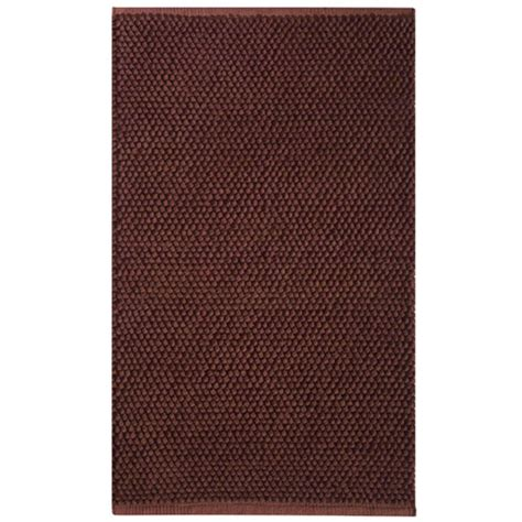 Knoti Cotton Accent Rug Chocolate Brown In Accent Rugs Chocolate Brown Bathroom Rugs