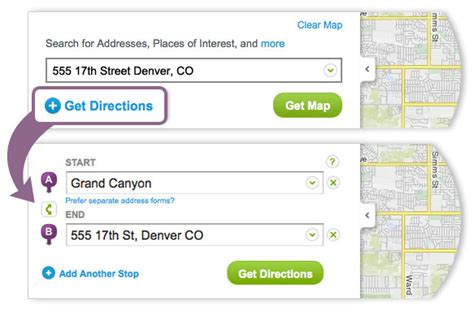 driving walking and traveling directions mapquest autos