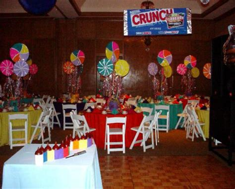 Candyland Table Decorations by Bar Bat Mitzvah Royal Events Providing Planning And