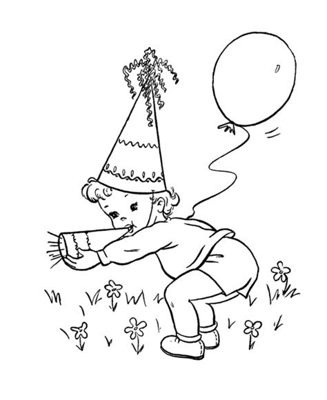 birthday hat coloring coloring pages