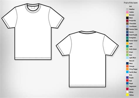 vector t shirt template for photoshop free vector for free