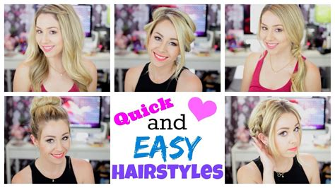 hairstyles quick n easy quick and easy hairstyles for summer youtube