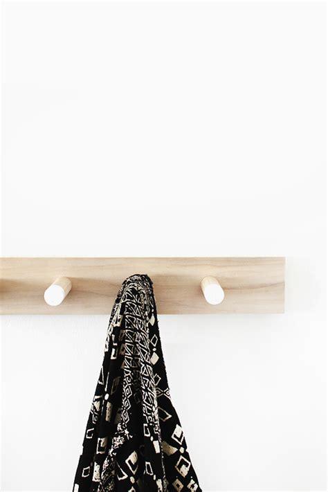 diy simple wood coat rack almost makes perfect