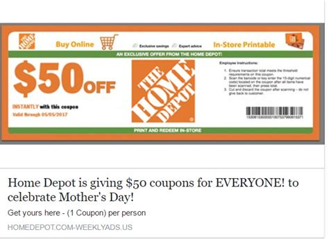 home depot coupon code coupon codes promo codes