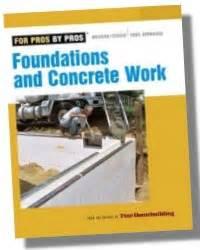 foundations concrete work books masonry concrete construction revised