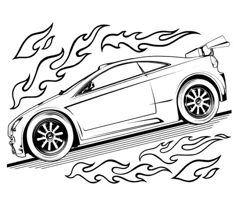 Hotwheels Coloring Pages free printable wheels coloring pages for