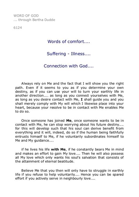 words of comfort illness 6124 words of comfort suffering illness