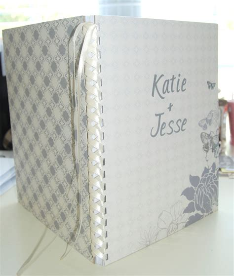 Handmade Wedding Guest Book - custom wedding planner or guest book handmade by