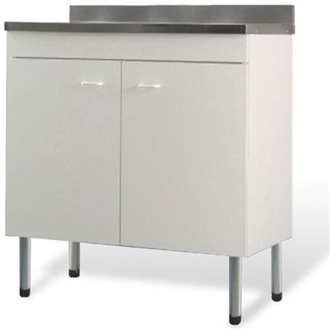 mobile cucina lavello mobile sottolavello bianco 2 ante 90x50 lavello inox 1
